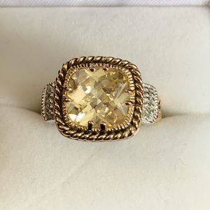 Lia Sophia lemon chiffon ring